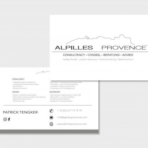 Cartes de visite pour la société Alpilles Provence