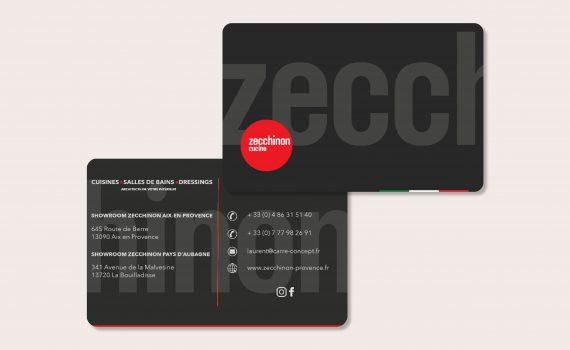 Création de Cartes de visite Zecchinon