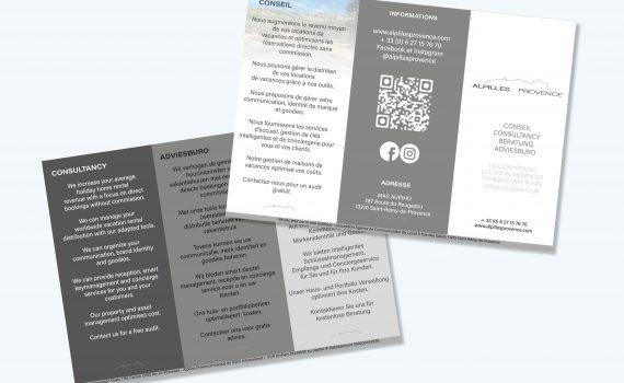 Création de brochure pour Alpilles provence