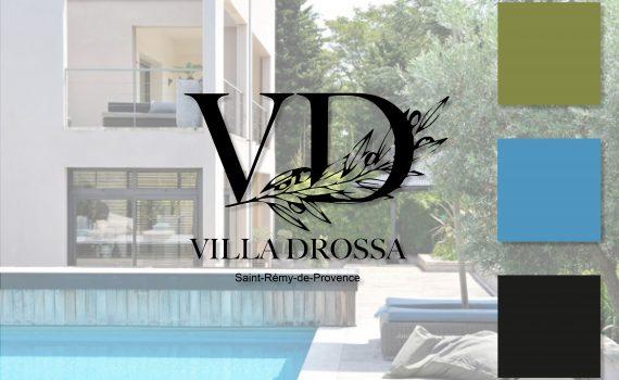 Identité visuelle des chambres d'hôtes Villa Drossa
