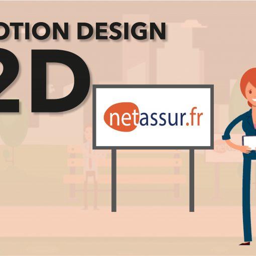 Création d'une vidéo en Motion design 2D Netassur