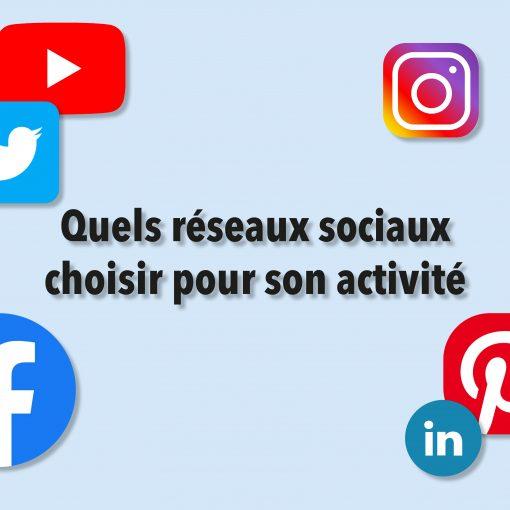 Quels réseaux sociaux choisir pour son activité ?