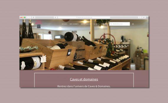 Site internet Caves & Domaines Saint-Rémy