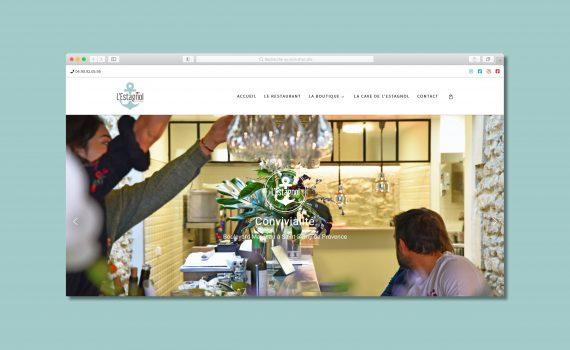 Site internet restaurant l'Estagnol