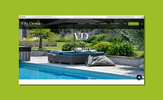 Site internet Villa Drossa