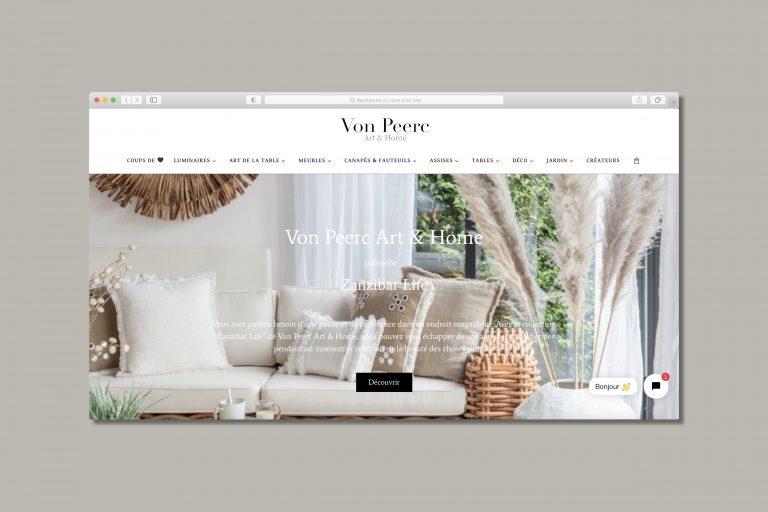 Site Internet Von Peerc Art & Home